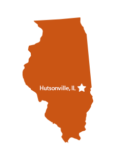 Hutsonville, Illinois map graphic